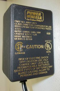 Fisher Price Power Wheels Dual 12 Volt Battery Charger 00801 0973