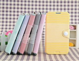 Button Wallet Case Card Flip Cover For Samsung Galaxy Note II N7100