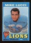 Mike Lucci signed autograph auto 1971 Topps Football Trading Card