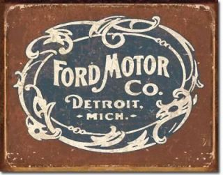 Historic Logo Metal Tin Sign Auto Car Garage Shop Vintage Advertising