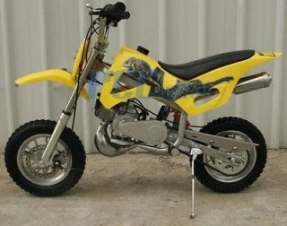 NEW 49CC 50CC 2 STROKE GAS MOTOR MINI DIRT PIT BIKE YELLOW P DB49A