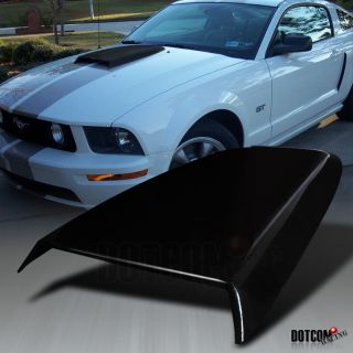 05 09 FORD MUSTANG V6 GT FRONT HOOD RACING SCOOP ABS (Fits Ford