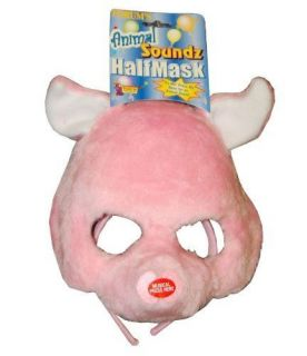 Kids Pig Halloween Costume Mask with Animal Sounds Child