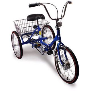 Port O Trike 3 Speed Deluxe 20 Adult Folding Tricycle Bicycle Bike