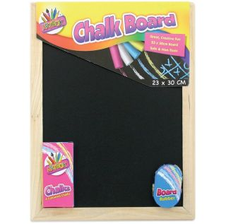 Small Chalk Black Board Blackboard Dry Wipe Drywipe Erase White Chalk