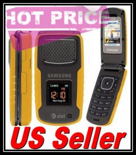 UNLOCKED SAMSUNG RUGBY A837 ATT (Yellow) PHONE GPS Heavy Duty USA
