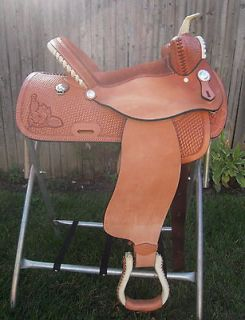 Newly listed BEAR TRAP BARREL RACING 15 SADDLE #222 BY LAMB SADDLERY