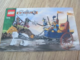 Newly listed LEGO CASTLE INSTRUCTION MANUAL 7078 KINGS BATTLE CHARIOT