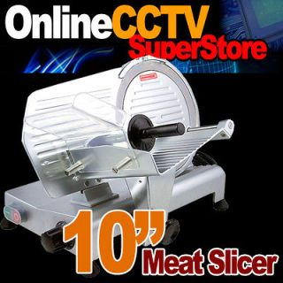 Commercial 10 Restaurant 240W Electric Frozen Meat Deli Food Slicer