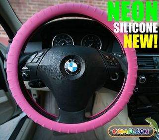 Pink Car Hello Steering Wheel Cover GLOW IN THE DARKCameleon Cover