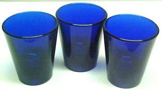 COBALT BLUE GLASS 1 oz SHOT GLASSES