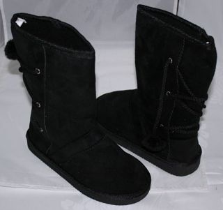 Brand New Womens Winter Snow Boots Shoes Mid Calf Black USA Seller