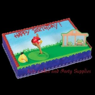 ANGRY BIRDS CAKE DECORATING KIT Topper Decoration Party Supplies
