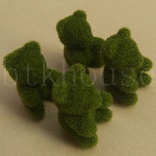 Moss Mini Teddy Bear Home Decor Flowers Plants Display Figurine