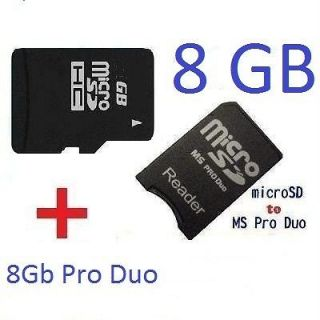 GB MEMORY STICK PRO DUO MICRO CARD MS FOR PSP 8GB SDHC CAMERA