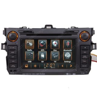Car GPS Navigation Radio TFT 2 DIN DVB T TV DVD Player for 07 11