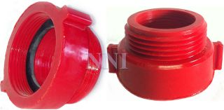 FIRE HOSE/HYDRANT HEX ADAPTER 1 1/2 FemaleSIPT x 1 1/2 Male NST