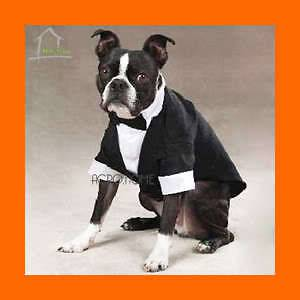 DOG SUIT TUXEDO WEDDING Marriage Costume Clothing Dog Cat Pet Bowtie
