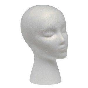 WIG HEAD STYROFOAM DISPLAY HAT CAP BUY BULK FOR LESS UP TO 12