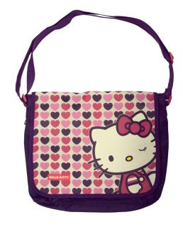 Hello Kitty Hearts Kids Messenger Bag Shoulder Cross Body Satchel