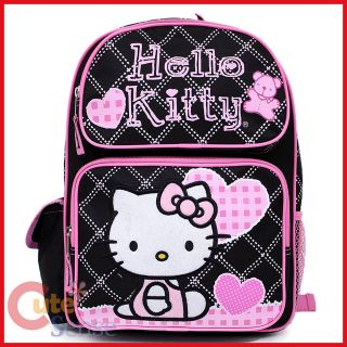 Sanrio Hello Kitty School Backpack 16 Large Bag  Love Teddy Bear