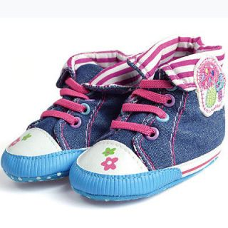Mushroom Girl Baby Soft Soled Toddler Infant Shoes Sneakers 12 15