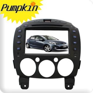 New In Dash Car Radio CD DVD  Player GPS Nav Audio Aux For Mazda 2