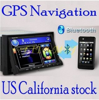 DOUBLE DIN HD CAR DVD PLAYER RADIO GPS NAVIGATION+MAP​+IPOD SD