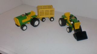 Trucks Vintage John Deere Tractor Trailer Loader RARE 70s Toy Mini