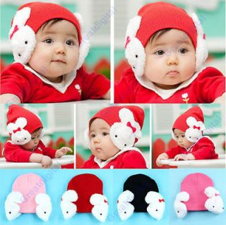 Baby Toddler Kids Boys Girl Winter Ear Flap Warm Hat Beanie Cap