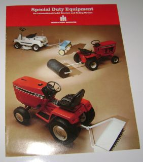 IH International Cub Cadet Lawn Tractor Equipment Brochure Haban