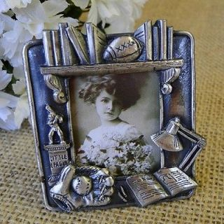 Mini Picture Frame ~ Book ~ Little League ~ Baseball Glove ~ Football