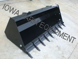 84 Alo Skid Steer Quick Attach Material Bucket For Tractor Front End