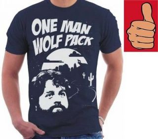 Shirt   The Hangover   One Man Wolf Pack   Size Small