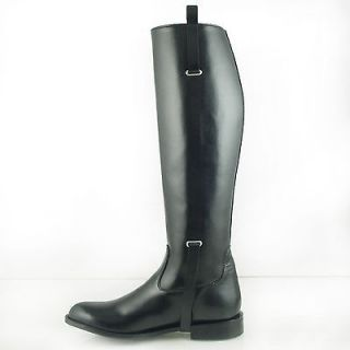 DG MEN BUCKLE DRESS TALL HORSE RIDING BOOTS BLACK Slim, Sizes 7 13