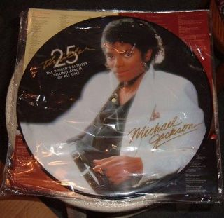 MICHAEL JACKSON THRILLER 25TH ANNIVERSARY PICTURE DISC ALBUM/VINYL/LP