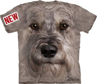 THE MOUNTAIN MINIATURE SCHNAUZER BREED PUPPY DOG FACE T SHIRT EXTRA