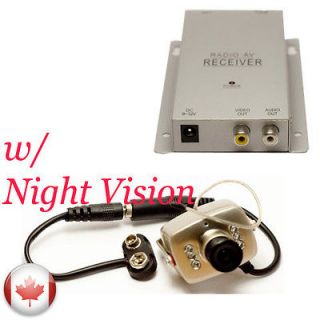 NIGHT VISION WIRELESS MINI SPY NANNY CAM CAMERA W AUDIO