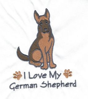 TOWEL DOGS EMBROIDERED GERMAN SHEPHERD 15 COLOURS 3 SIZES BNWOT FREE P