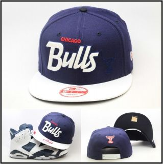 New Era Chicago Bulls Custom Snapback Hat For Air Jordan Retro 6 VI