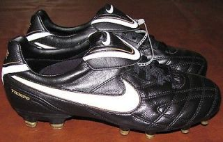 NEW Nike Tiempo Legend III Mens FG Soccer Shoes Cleats 7.5 Black