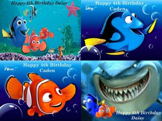 FINDING NEMO / PERSONALISED RECTANGULAR EDIBLE ICING SHEET CAKE