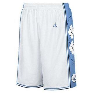 Nike Jordan North Carolina Tar Heels Mens White Basketball Shorts UK L