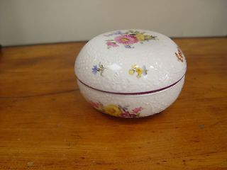 Antique Meissen Porcelain Dresser Jewelry Box