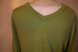 Boomerang V neck Cashmere Blend Sweater, Mens Small, Nice