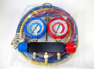 Manifold Gauges Set for Refrigerants R134a,R22, R410a, R404a HVAC R