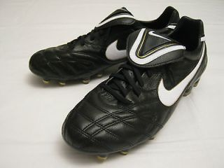 New Mens Nike Tiempo Legend III FG Soccer Cleats, Black/Gold/Whi​te