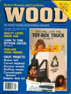 1993 Wood Magazine Toy Box Truck/Shaker Bed/Carved Elephant/Autum​n