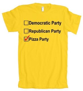 Democratic Republican Pizza Party American Apparel T Shirt
