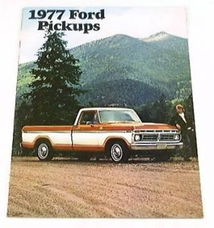 1977 77 FORD Pickup TRUCK BROCHURE Flareside Styleside F100 F150 F250